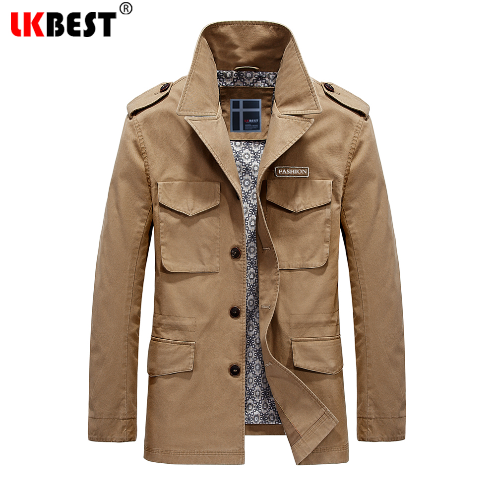 LKBEST 2017 Thin Casual Men Jackets Cotton Washed Men Coat Safari Style Masculin Jacket Autumn Men'S Windbreaker Outwear (55077)