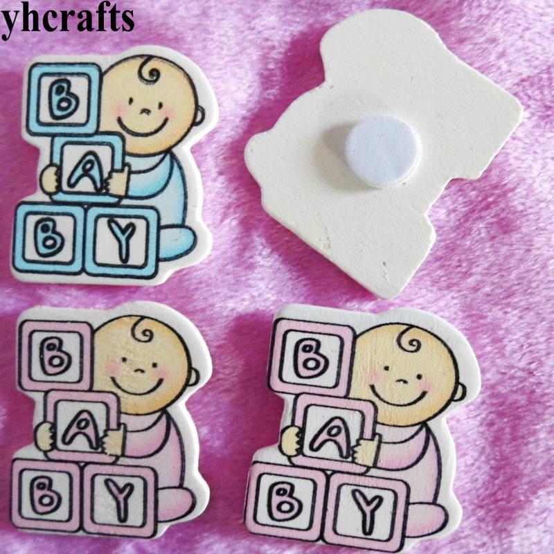 10PCS/LOT,Baby play block wood stickers Kids room ornament Decorative stickers Kindergarten crafts Fridge stickers Wall label
