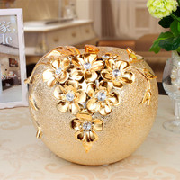 New Best Gift Golden Electroplated Ceramic Apple Ornaments Crafts Artwork Den Coffee Table Wine Decorations Ceramic