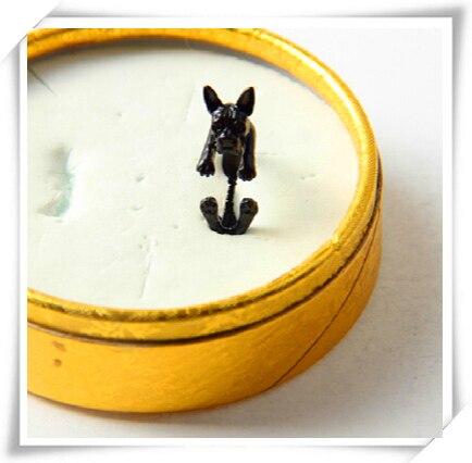 Фото кольцо в стиле ретро панк америку бостонский терьер кольцо подарок