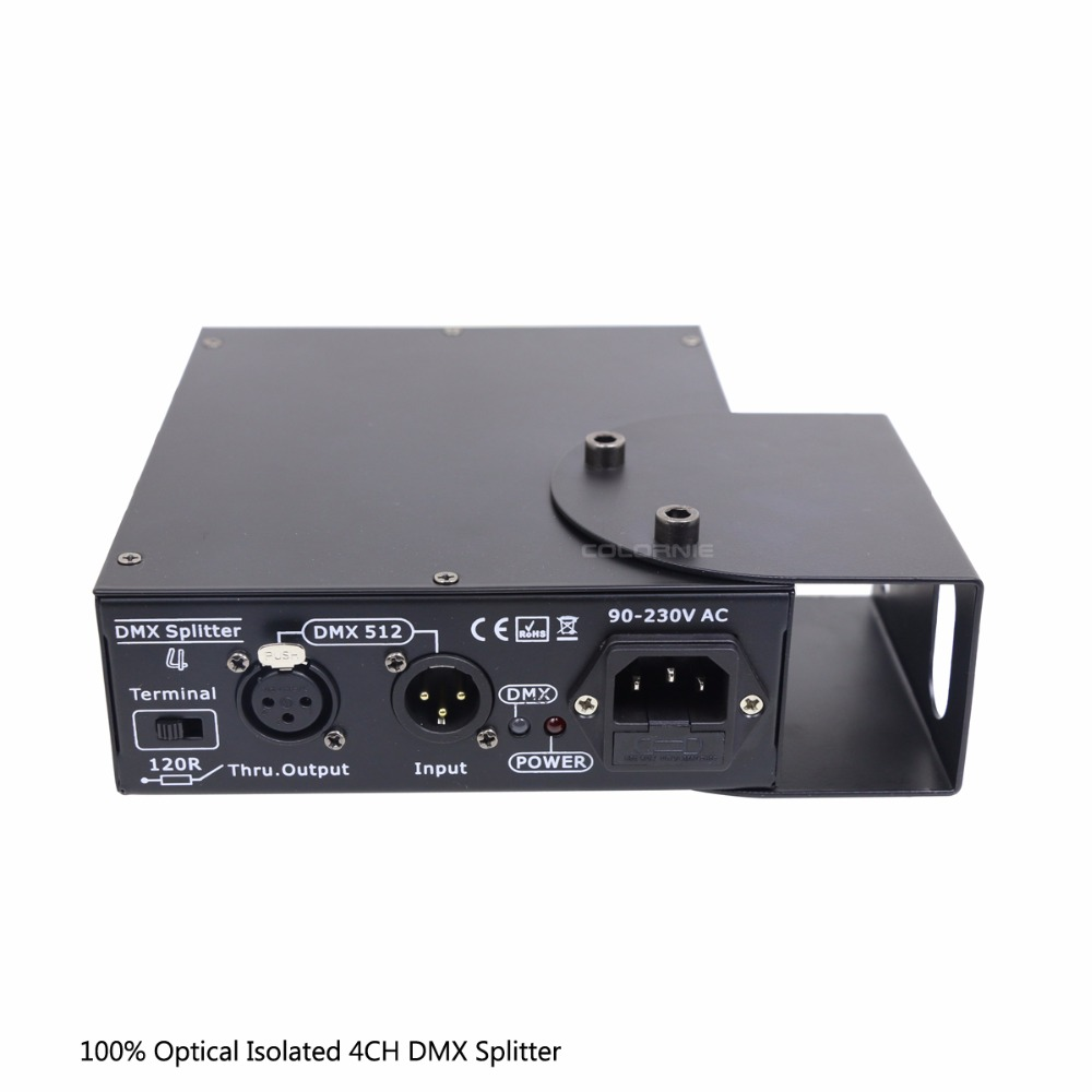 DMX Splitter 4 Channels Optical isolated DMX512 Controller 4 Way Dmx Distributor and Hook for KTV Stage Light Signal Amplifier-in Stage Lighting Effect from Lights & Lighting    2