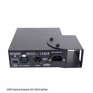 Image 2 - DMX Splitter 4 Kanal Optik İzole DMX512 Denetleyici 4 Yollu Dmx Distribütör ve Kanca KTV Sahne Işığı sinyal amplifikatörü