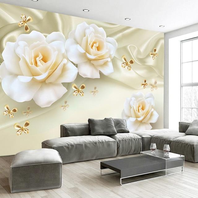 Sketsa Bunga Lukisan Bunga 3d Di Dinding