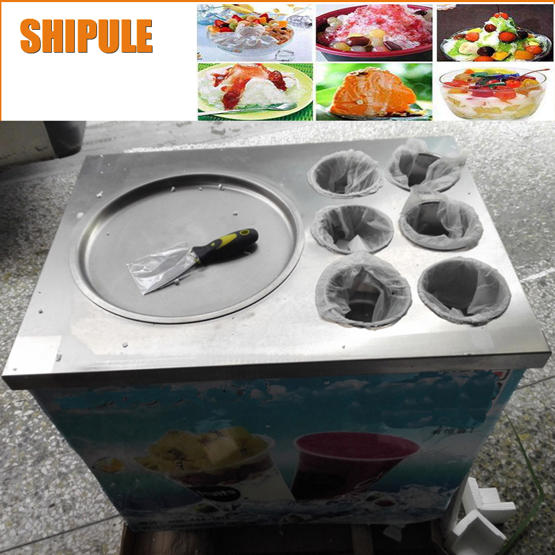 SHIPULE fried ice cream machine & freezing yoghourt ice pan machine \ freeze milk maker shipule fried ice cream machine roll machine ice cream maker