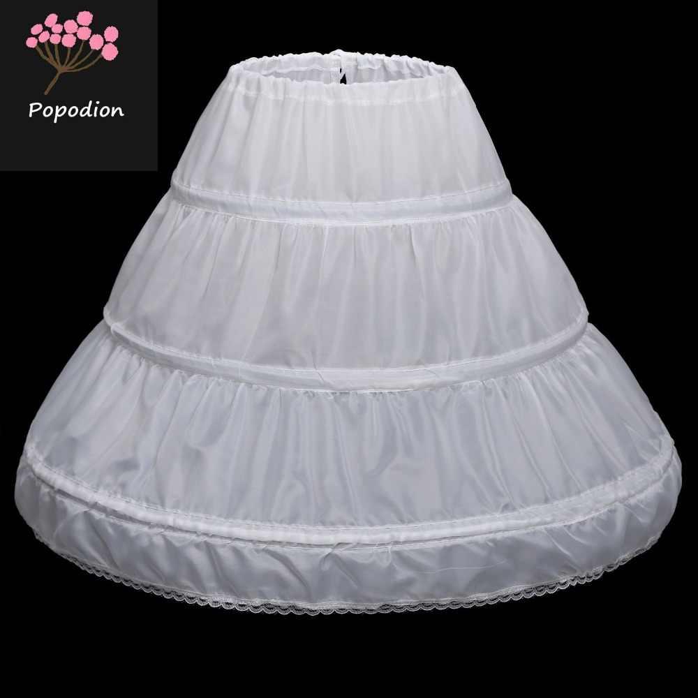 Popodion enaguas blancas accesorios de boda enaguas girsl WAS10093