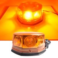 DC12V 24V Car LED Warning Police Light Strobe Light High Power Fog Lamps Circular Open Road Flashing Engineering Roof Light
