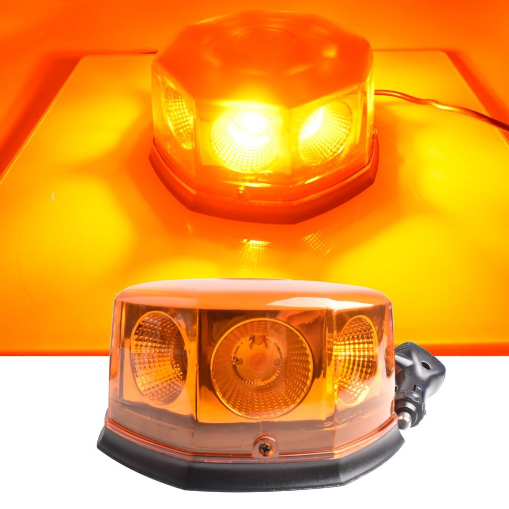 DC12V-24V voiture LED avertissement Police lumière stroboscopique haute puissance brouillard lampes circulaire ouvert route clignotant ingénierie toit lumière
