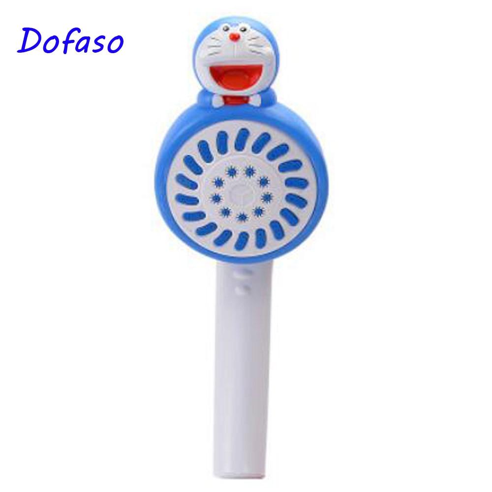 Dofaso ABS High Pressure HandHeld Shower Head with Doraemon for kid bathroom shower hand in Shower Heads from Home Improvement