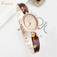 KIMIO Oval Sharp Colorful Strap Rhinestone Bracelet Wrist Watches For Women Ladies Quartz Watch Woman Watches
