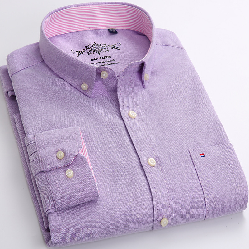 Casual Slim Fit men long sleeve dress shirts  1
