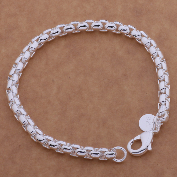 AH094 caliente pulsera de plata de ley 925, joyería de moda de Plata de Ley 925 pequeña pulsera de cuerda retorcida/akkajbra aymajpta