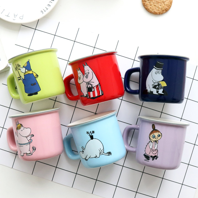 250ML Cartoon design Moomin Ceramic water mug colorful Moomin Coffee mug moomin mug 6 designs
