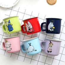 250 ML Cartoon design Mumin Keramik wasser becher bunte Mumin kaffeetasse mumin becher 6 designs