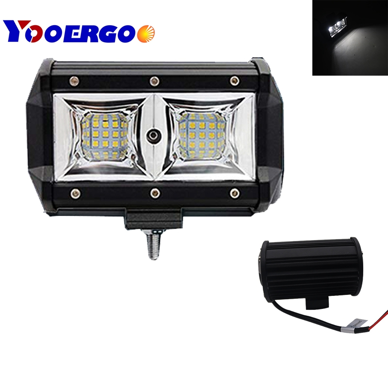 2 pack 5 inch 54W spot beam square mini LED Work Light Lamp for Motorcycle Tractor Boat