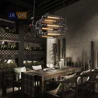 e27 Edison Loft Industrial Iron Chandelier Lighting Lamparas De Techo Suspension Luminaire Lampen For Office