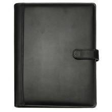 BLEL الساخن الأسود A4 مجلد مؤتمرات التنفيذي محفظة بو الجلود وثيقة منظم