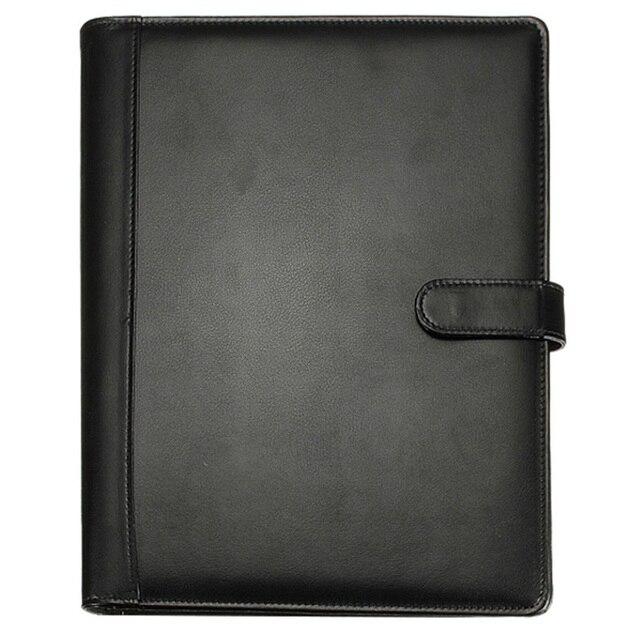 BLEL Hot Black A4 Executive Conference Folder Portfolio PU Leather Document Organiser