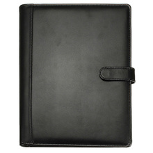 BLEL noir chaud A4 exécutif conférence dossier portefeuille en cuir PU organisateur de documents