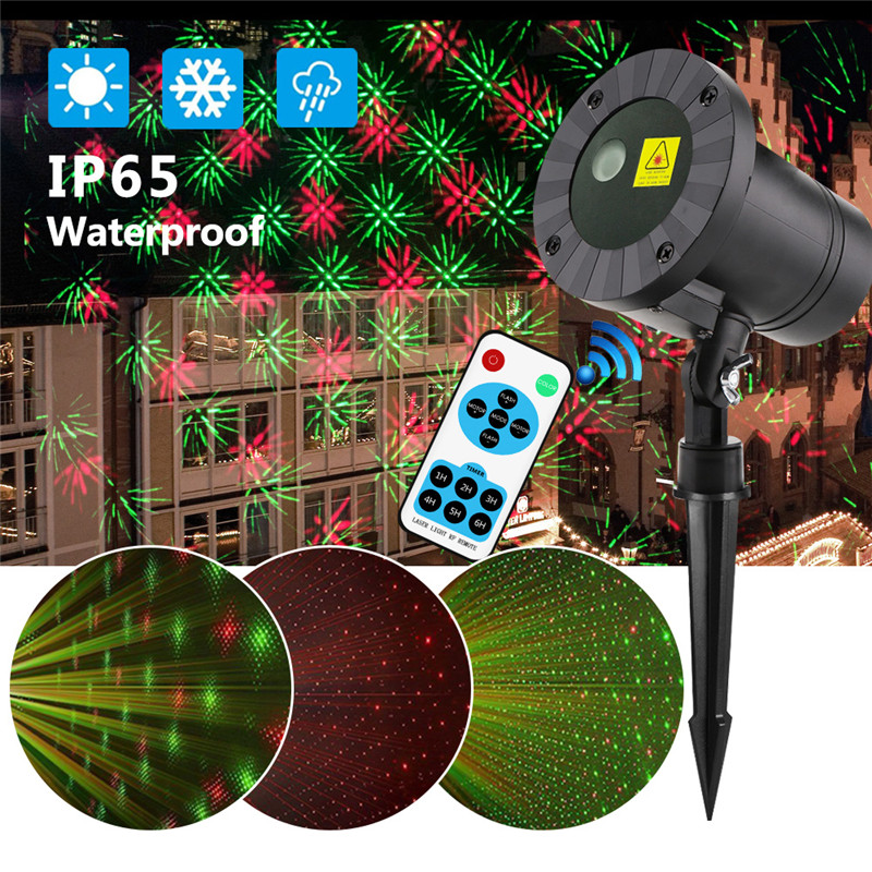 Moving Laser Projector LED Lamp 2018 Christmas Outdoor IP65 Starry Party Garden Lights Remote Control Decorative Lawn Laser Lamp недорого