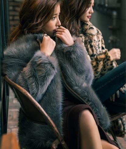 Veste Femme Fourrure Femmes Furry 2019 Z288 De Plus Taille Hiver Manteau Vison La Faux Outwear Artificielle WH2IYED9