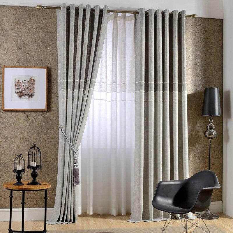 japn estilo griscaf jacquard grueso faux lino cortinas para sala ventana cortinas para dormitorio moderno cortinas para nios en cortinas de casa y - Cortinas Lino