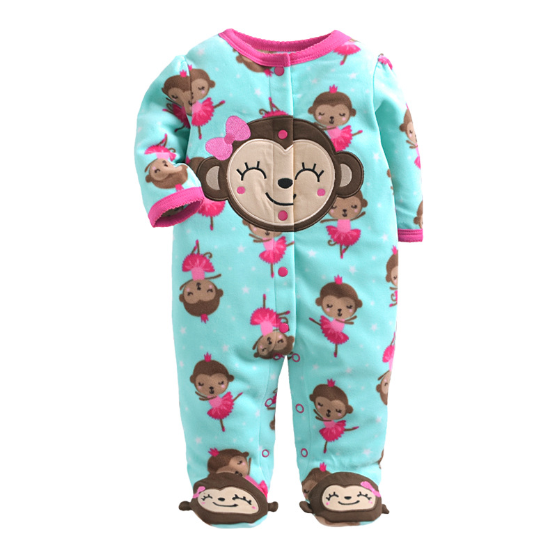 Baby   Rompers   2018 Winter Fleece Body Suits Long Pajamas   Romper   1pcs/lot Toddler ONE-PIECES Clothes Newborn Good quality