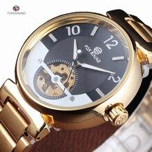 Forsining известный автоматический часы с костями Роскошные брендовые для мужчин синий циферблат череп Horloge Авто Золото Механические наручны…