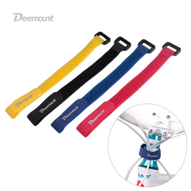 4 Uds. Gancho de nailon para bicicleta/cinta de bucle Correa autoadhesiva Cable de bicicleta lazo de rosca banda de botella para bicicleta linterna Bandag