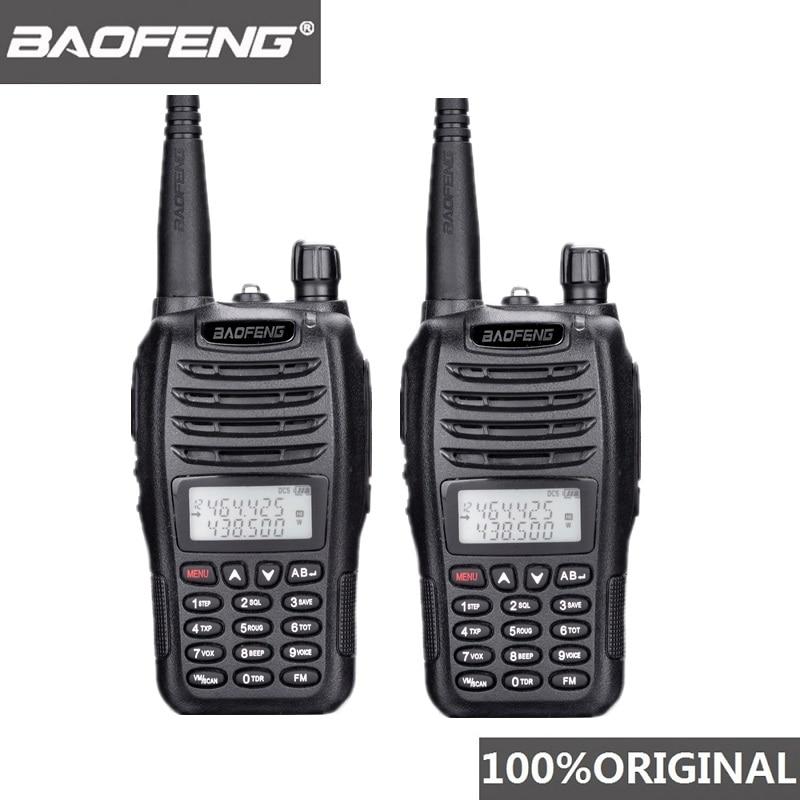 2PCS BaoFeng UV-B6 Portable Walkie Talkie UV B6 Two Way Radio Dual Band VHF/UHF Woki Toki 5W FM Radio Transceiver