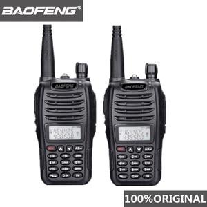 Image 1 - 2PCS BaoFeng UV B6 Portable Walkie Talkie UV B6 Two Way Radio Dual Band VHF/UHF Woki Toki 5W FM Radio Transceiver