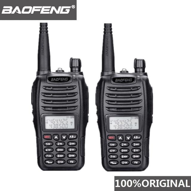 2PCS BaoFeng UV B6 Portatile Walkie Talkie UV B6 Two Way Radio Dual Band VHF/UHF Woki Toki 5W FM Radio Transceiver