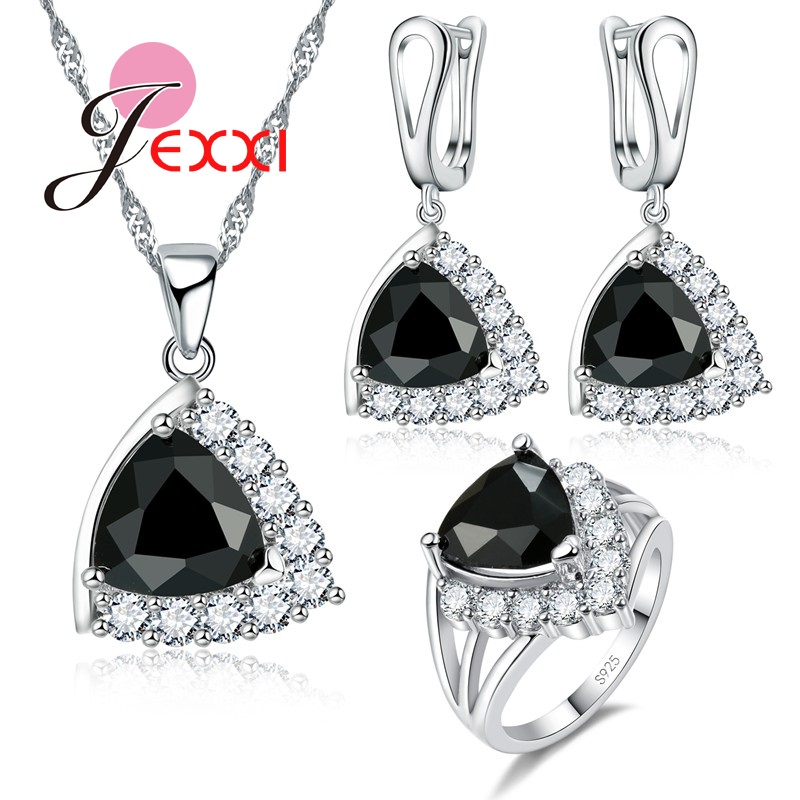 Party-Jewelry-Set Accessory Wedding-Sets Crystal Cubic-Zircon 925-Sterling-Silver Bridal