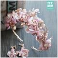 A Noiva Da Princesa doce flor de cristal coroa Brincos conjunto banda grampos de cabelo Coreano acessórios do casamento Barroco