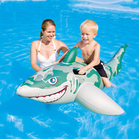 New fashionable inflatable dolphin camouflage shark riding children's Swimming Pool Float Beach Party in 2019