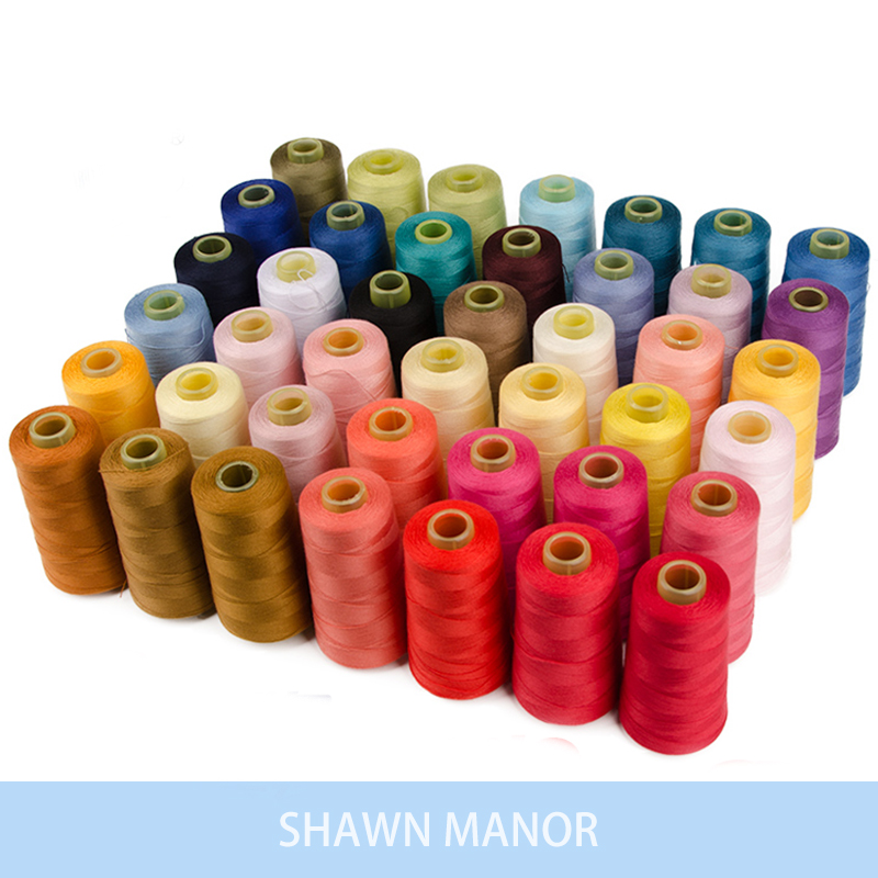 1 Roll(1600Meters) Durable Overlocking Machine Polyester Threads For Sewing Jeans Luggage Home Textile Accessories 20s/2