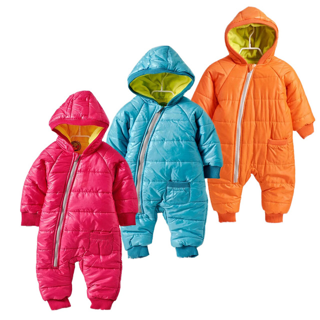 7bbc0e2ddbec High Quality Baby Rompers Winter Thick Cotton Boys Costume Girls Warm  Clothes Kid Jumpsuit Children Outerwear Baby Wear. Price
