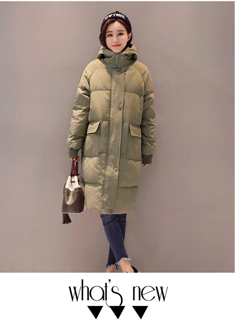 Женское зимнее пальто средней длины, однотонная свободная Толстая теплая куртка с капюшоном, пуховик с хлопковой подкладкой, верхняя одежда, парки H448