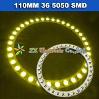 2X White Red Green Yellow Blue Color Car Headlight Front Angel Eyes Eye Halo Rings Light