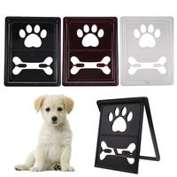 Bone Handprint Plastic Pet Dog Cat Door Gate for Small Dog Kitten Window Screen Safe Flap Gate Pet Dog Accessories