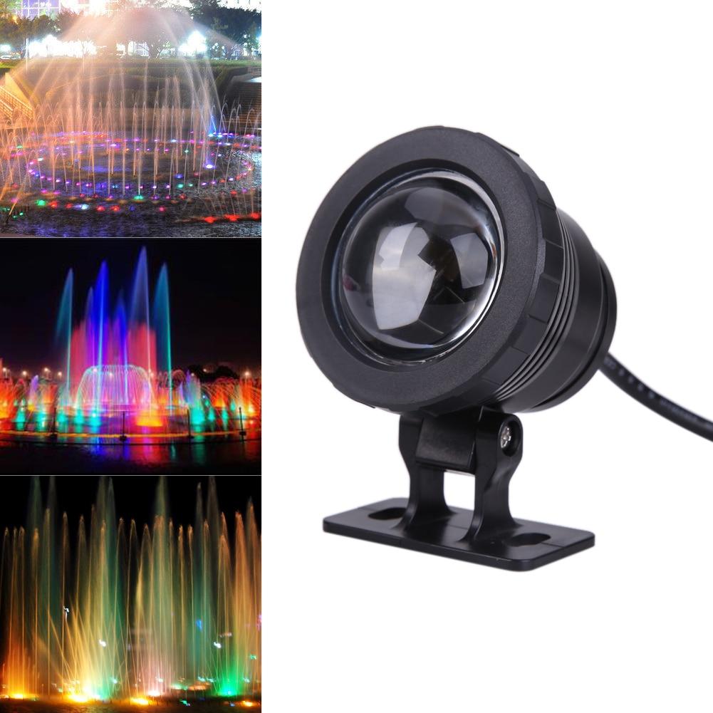 10W AC 12V RGB LED Underwater Lamp IP65 Waterproof Swimming Pool Pond Fish Tank Aquarium LED Light Lamp With Remote Controller