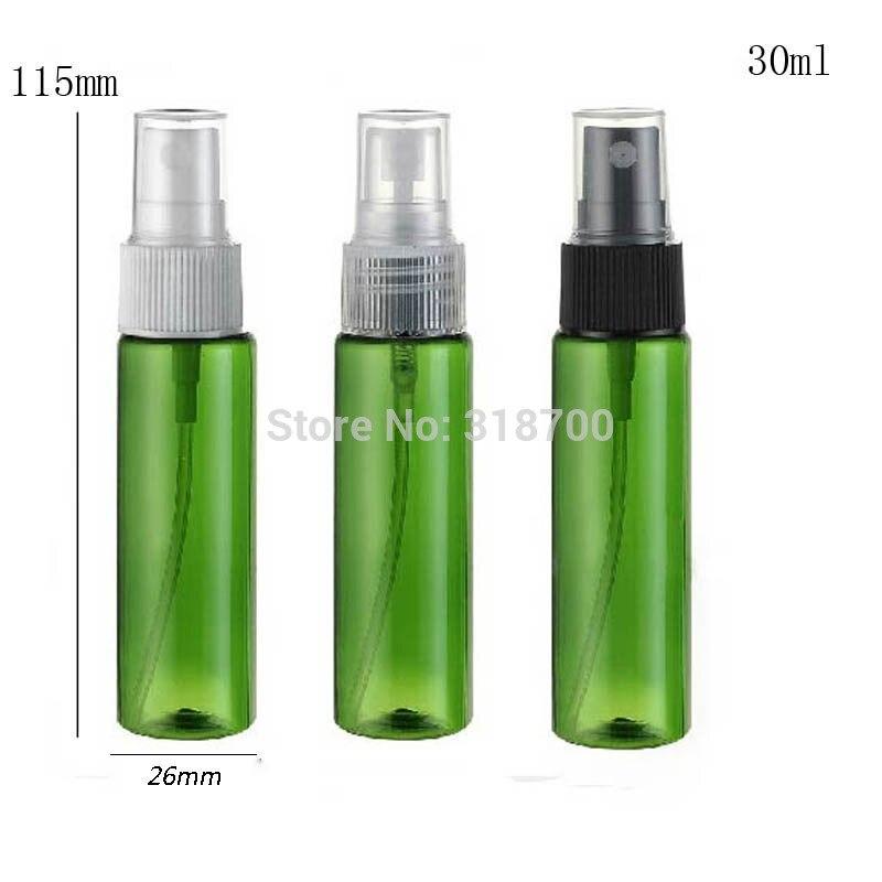 50 X 30ml Cyliner Plastic Perfume Bottle 1oz Green Half