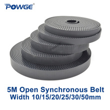цена на HTD5M timing belt 5M-25 Width=25mm Pitch=3mm 5M open timing belt PU with steel core Color 5M pulley belt 10Meters
