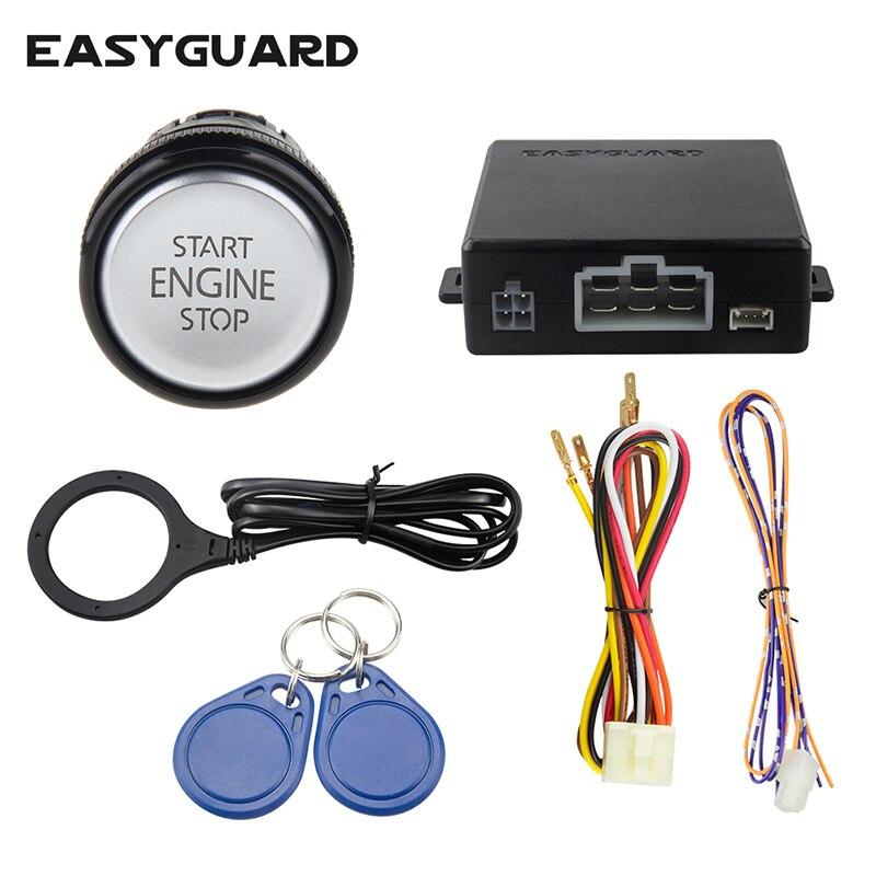 Système d'alarme de voiture Easyguard RFID avec bouton de démarrage intelligent et système de valet sans clé dc12v