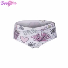2eb79e0fcaf7 DorkyBae doodle Street Alien white funny print sexy hot panties kawaii  Lovely briefs push up underwear