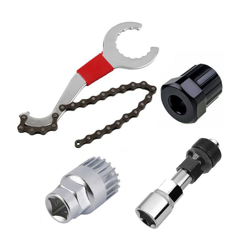 Mountain Bike Repair Tool Kits Bicycle Chain Removal/Bracket Remover/Freewheel Remover/Crank Puller Remover Outdoor sport tool