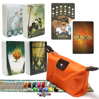 hot sale board game dixit 4+5+6+7 wooden rabbits 336 cards kids toys education for family home party fun dixit card game
