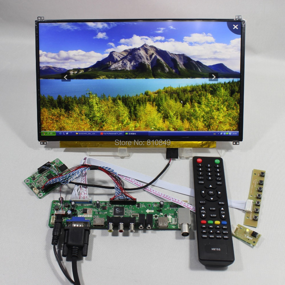 TV PC HDMI CVBS RF USB LCD Control Board 13 3inch N133HSE EA1 1920 1080 IPS