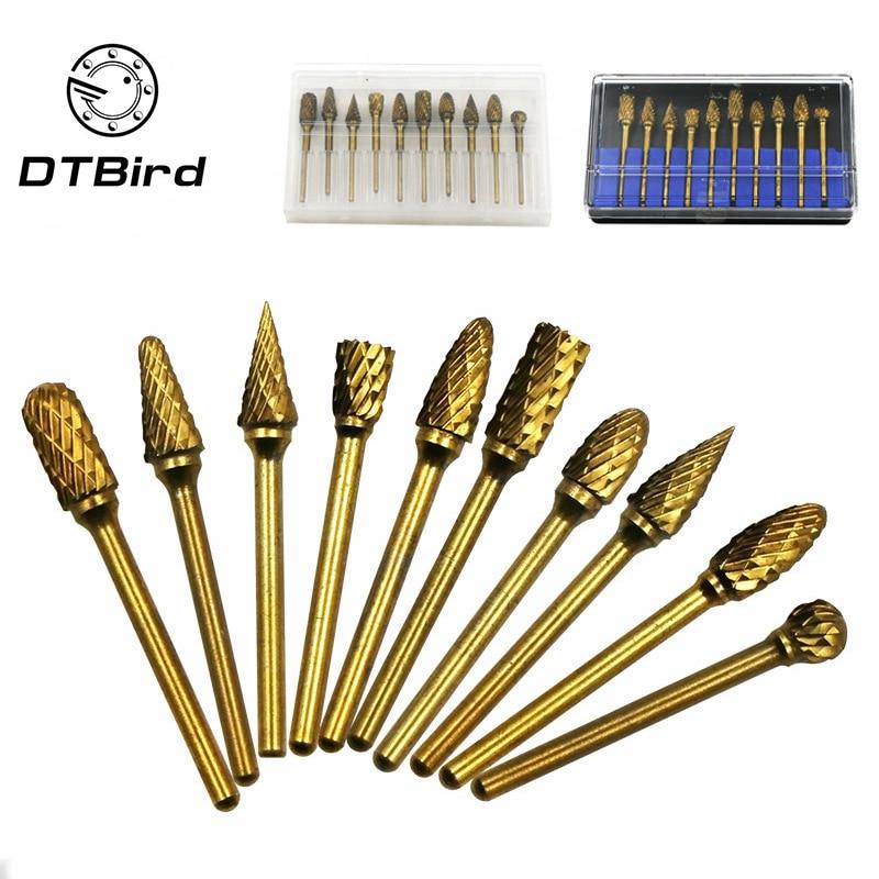 Hho-5 Pcs 6mm Schaft Dreh Grat Raspel Set Holzbearbeitung Schleifen Polieren Gestaltung Holz Carving Bohrer Handwerkzeuge