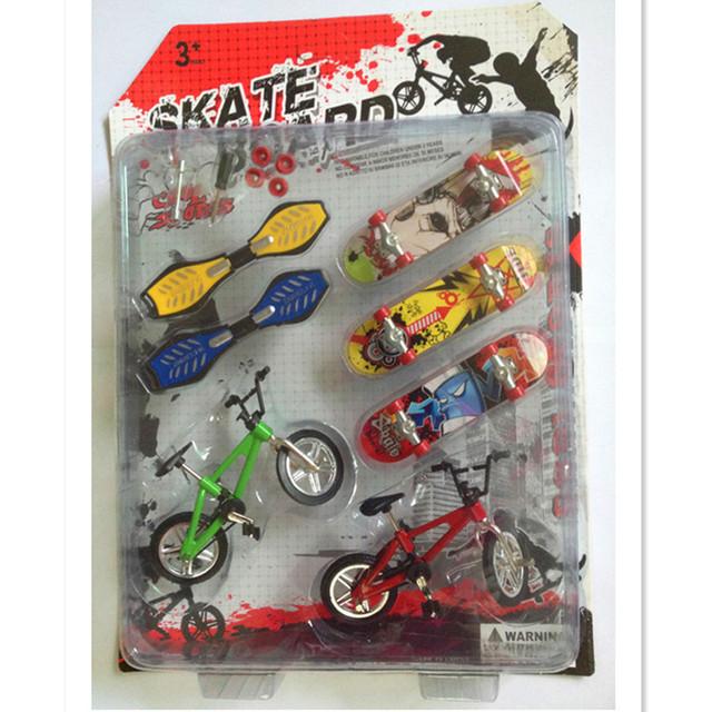Bicicleta divertida Patín Del Dedo Juguetes para Los Niños, Mini Diapasones Bicicleta Dedo Juguetes de Cumpleaños/Regalos de Año Nuevo para Los Niños/adultos