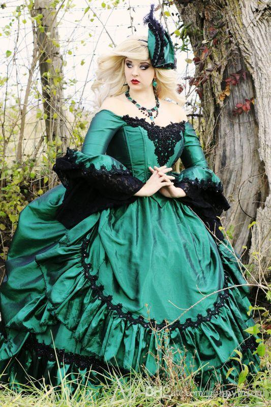 Vampire Blue mother Dress lace in Retro Victorian dresses